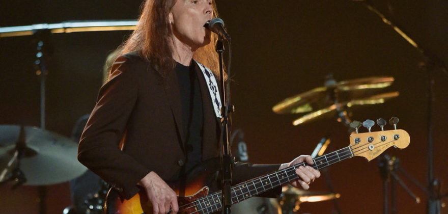 LOS ANGELES, CA - FEBRUARY 15:  Musician Timothy B. Schmit performs onstage during The 58th GRAMMY Awards at Staples Center on February 15, 2016 in Los Angeles, California.  (Photo by Kevork Djansezian/Getty Images)