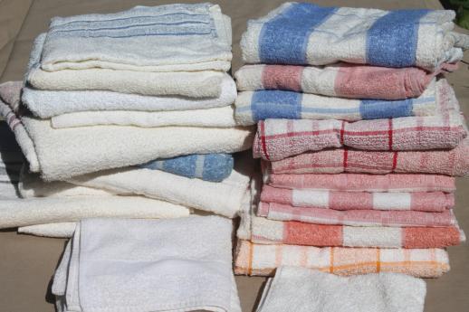 huge-lot-unused-vintage-cotton-bath-towels-hand-towels-1940s-new-old-stock-Cannon-towels-Laurel-Leaf-Farm-item-no-s92382-2